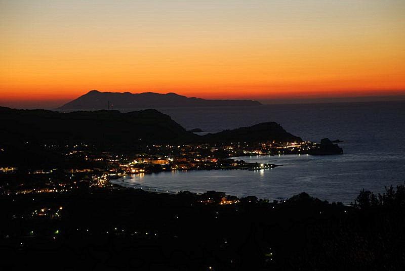Sonnenuntergang Villa Korfu - Sidari
